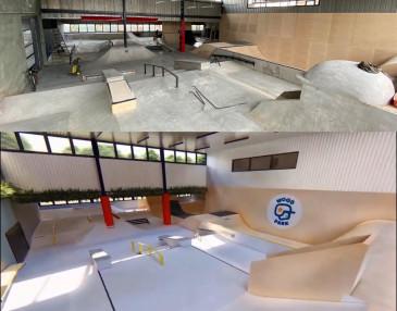 Nowy kryty betonowy skatepark w Warszawie - WoodPark
