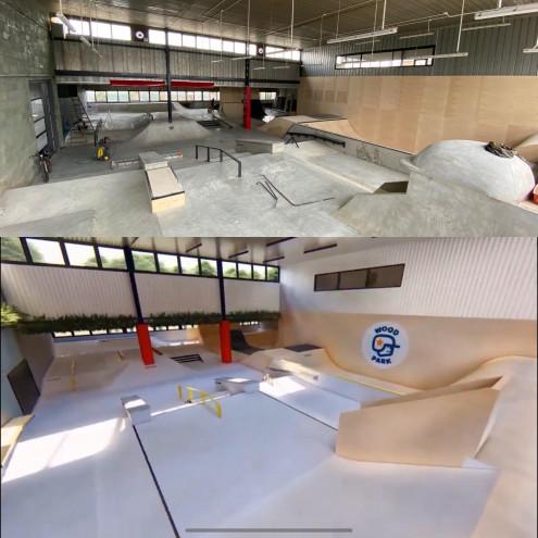 Woodpark - kryty betonowy skatepark w Warszawie